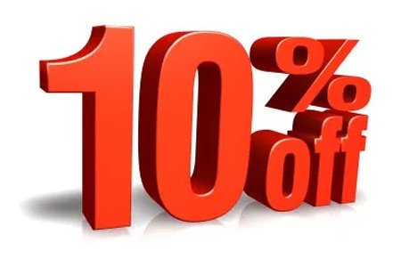 Coupon for 10% Off All Services Special Package