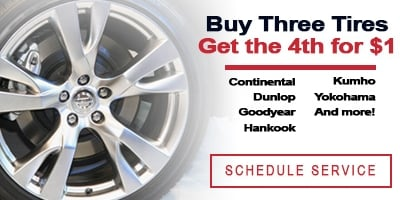 Coupon for Buy  3 Tires, get the 4th for $1