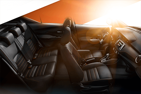 black interior of the all new nissan kick