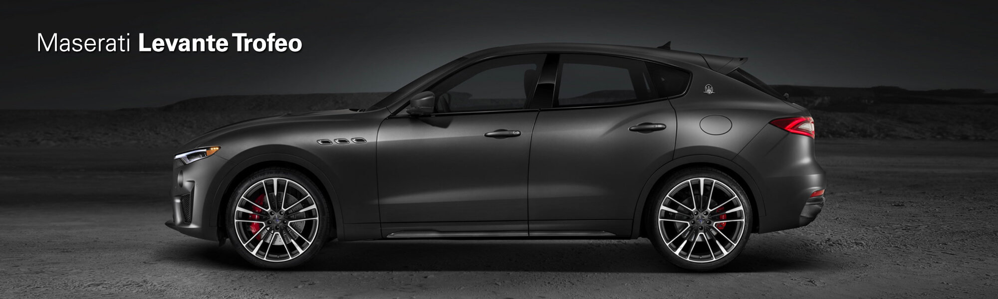 side profile of the all new 2019 levante trofeo in black