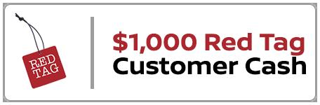 red tag bonus cash