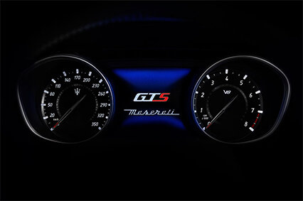instrument cluster in the all new maserati levante gts