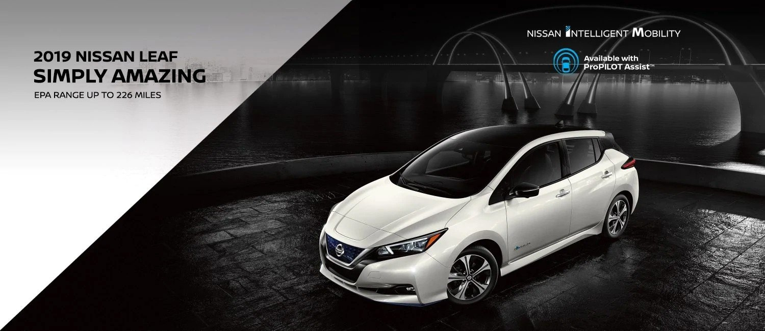 all new white nissan lead with intelligent mobility