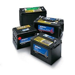 four car batteries