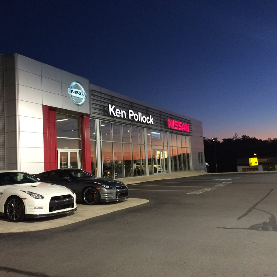 Ken Pollock Nissan at night