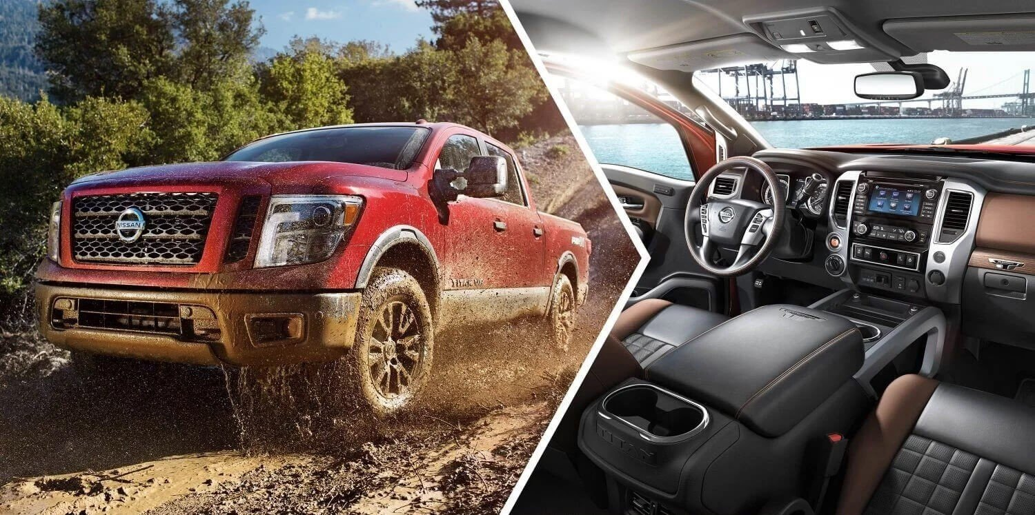 interior and exterior shot of brand new Nissan Titan