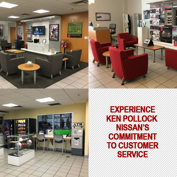 Inside The Ken Pollock Nissan Service Department Located In Wilkes Barre PA