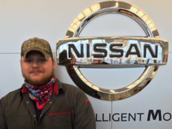 Service Technician Brad Griffin in Service at Ken Pollock Nissan