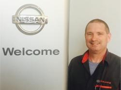 Service Technician Dave Rubasky in Service at Ken Pollock Nissan