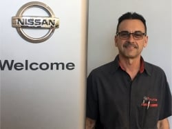 Service Technician Paul Yanus in Service at Ken Pollock Nissan