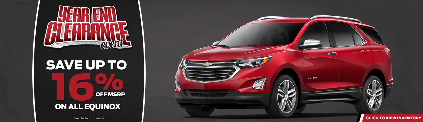 year end sales event on red chevy equinox