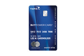 Coupon for UP TO $100 STATEMENT CREDIT Apply for the BuyPower Card® right in our service lane.