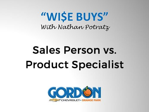 Sales Person vs. Product Specialist