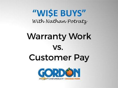 Warranty Work vs. Customer Pay