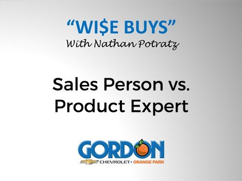 Sales Person vs. Product Expert