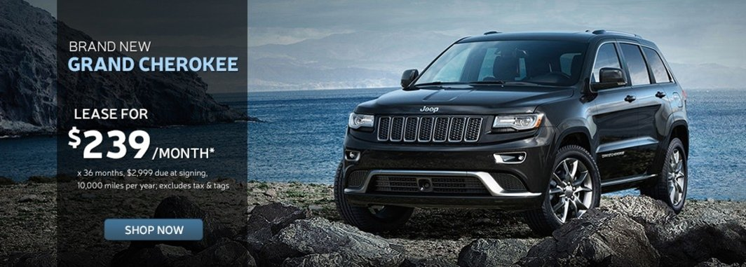 New grand cherokee lease special