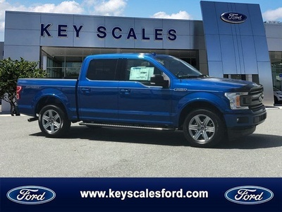 Blue Ford F-150 Truck