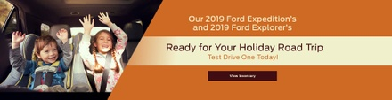 Banner image for 2019 Ford Expedition and 2019 Ford Explorer in stock