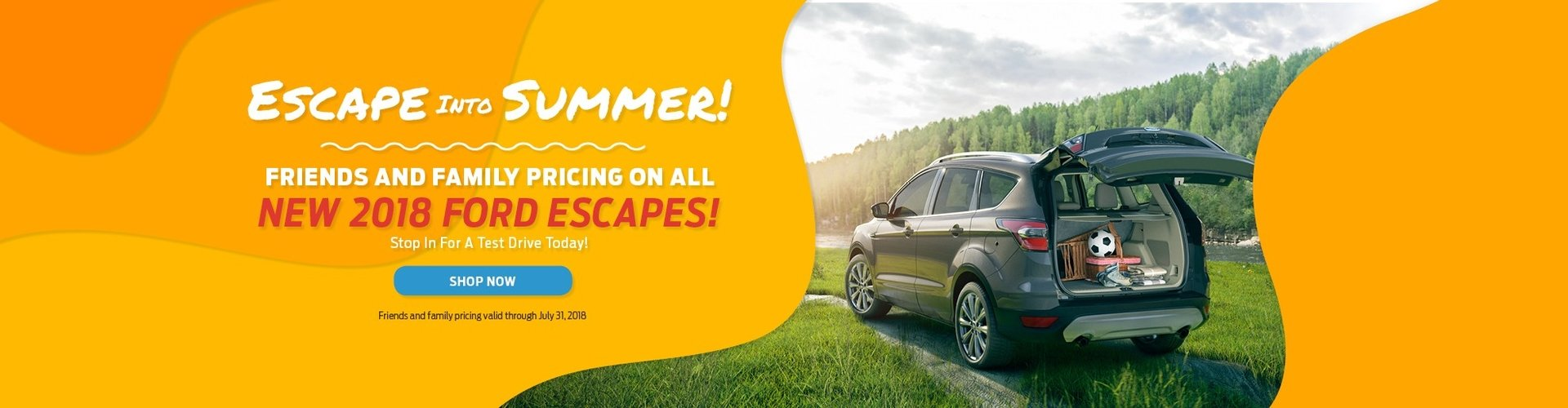 2018 Ford Escape Friends and Family Pricing