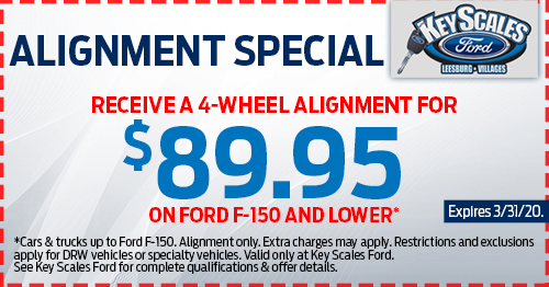 Coupon for Alignment Special for Ford F-150 and Lower Receive a 4-Wheel Alignment