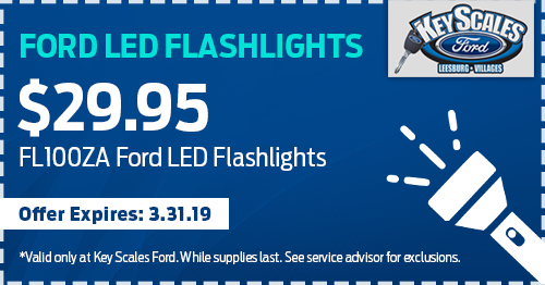 Coupon for $29.95 Ford LED Flashlights