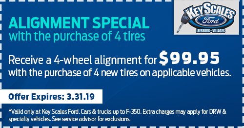 Coupon for Alignment Special with Purchase of 4 Tires