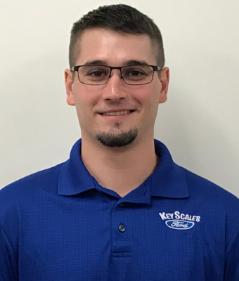 Vehicle Specialist Garrett Reddish in Sales Team at Key Scales Ford