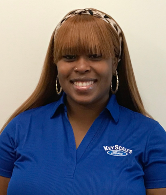 Service Administrator Lashana Hills in Service Team at Key Scales Ford