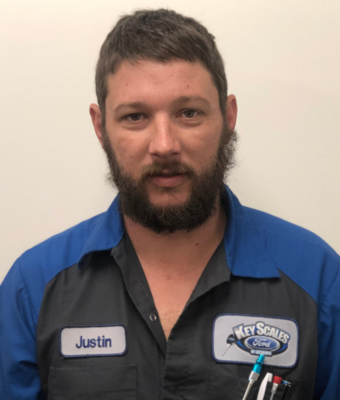 Diesel Technician Justin Jackson in Service Team at Key Scales Ford