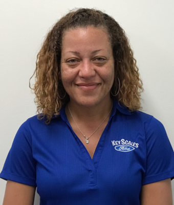 Service Advisor Sabrina Manning in Service at Key Scales Ford
