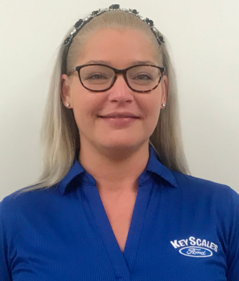 Vehicle Specialist Erin Potts in Sales Team at Key Scales Ford