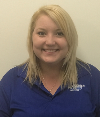 Vehicle Specialist Anna Carroll in Sales Team at Key Scales Ford