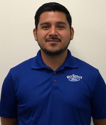 Sales Manager Jonny Hideroa in Sales Team at Key Scales Ford