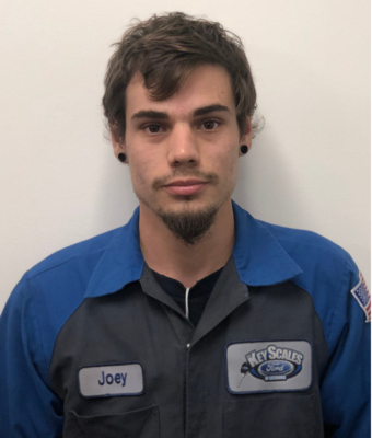 Lube Technician Joey Rosato in Service at Key Scales Ford