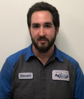 Technician Vincent Cerillo in Service Team at Key Scales Ford