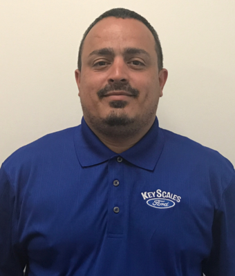 Parts Delivery Driver Ricky Diaz in Parts Team at Key Scales Ford