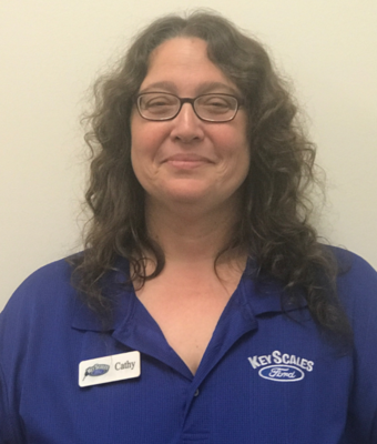 Title Clerk Cathy Snow in Administration at Key Scales Ford
