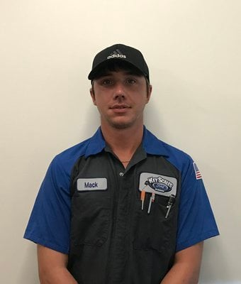 Technician Mac Sheffield in Service Team at Key Scales Ford