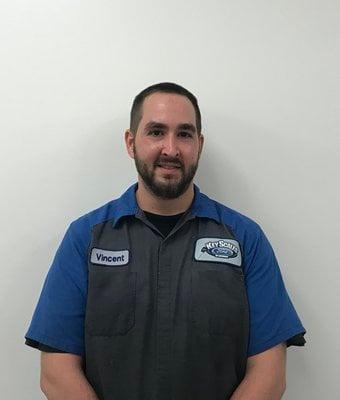 Technician Vince Cerillo in Service Team at Key Scales Ford