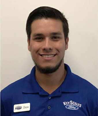 Vehicle Specialist Andrew Gonzales in Sales Team at Key Scales Ford