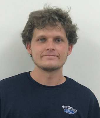 Lube Technician Charles Carroll in Service Team at Key Scales Ford