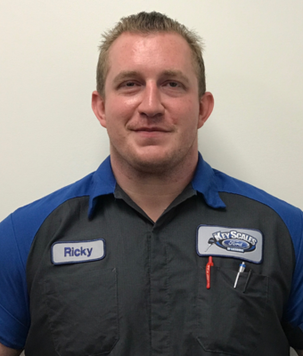 Technician Ricky Crews in Service Team at Key Scales Ford