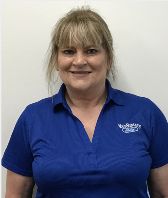 Vehicle Specialist Cindy Burnett in Sales Team at Key Scales Ford