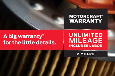 Coupon for Motorcraft®  Warranty Two Years. Unlimited Mileage. Includes Labor.