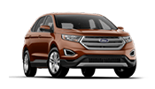 New Orange Ford Edge on display here at Shottenkirk Ford Jasper in Canton & Woodstock.