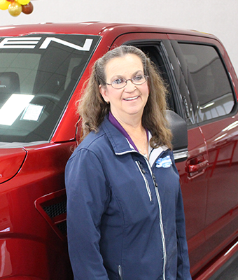 Parts Driver Ginger Meade in Staff at Shottenkirk Ford Jasper