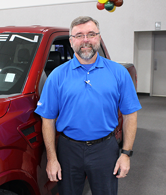 Parts Counterperson Scott Clavier in Staff at Shottenkirk Ford Jasper