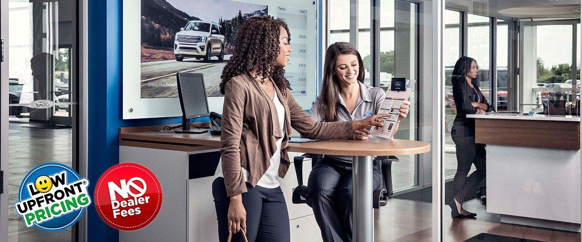 Woman at dealership header