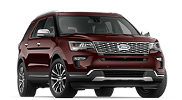 2019 Ford Explorer -- Burgundy