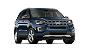 brand new blue ford explorer sport SUV from our Ford dealership